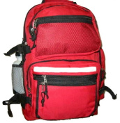 K-Cliffs Polyester Backpack With Bottle - 19 x 33cm x 20cm . Red