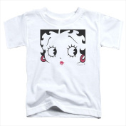 Boop-Close Up - Short Sleeve Toddler Tee White - Small 2T
