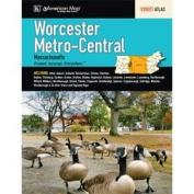 Universal Map 14327 Worcester Massachusetts Metro-Central Street Atlas
