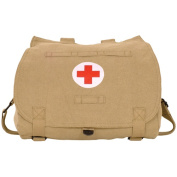 Fox Outdoor 43-265 Retro Hungarian Shoulder Bag With Red Cross - Khaki