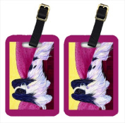 Carolines Treasures SS8416BT Papillon Luggage Tags - Pair Of 2