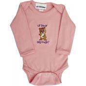 Lil Cub Hub 5CLSOGBP-36 Pink Long Sleeve Onesie - Girl Bear 3-6 months