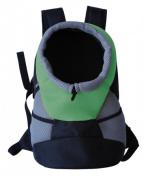 Pet Life B34GNMD On-The-Go Supreme Travel Bark-Pack Backpack Pet Carrier Green - Medium