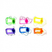 Bulk Buys Assorted Colour Transparent Vinyl Coin Purse - Case of 60