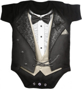 Spiral - Baby-Boys - TUXED - Baby Sleepsuit Black