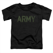 Army - Short Sleeve Toddler Tee Black - Medium 3T