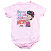 Archie Babies-Nicer - Infant Snapsuit Pink - Large 18 Mos