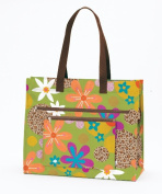 Joann Marrie Designs NPTGLF Insulated Tote Bag - Green Leopard Floral Pack of 2