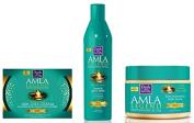 Dark & Lovely Amla Legend Rejuvenating Ritual Deep Treatment Replenishing Hair Mask 250ml, Dark and Lovely Amla Legend 1001 Night Cream 150 ml and Dark and Lovely Amla Legend Oil Moisturiser 250 ml