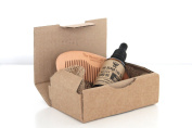 Beard Oil & Beard Comb Gift Set By The Beard Lab Co. | Premium Luxury Beard Conditioning Oil For Men | All Natural | Male Grooming Deep Conditioning Beard | Supplement Hair Supplement | Gift | Mens Gift | Beard Comb | Luxury Amber