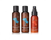 Silk Oil of Morocco Intense Moisture Shampoo and Intense Moisture Conditioner Set (100ml each) (TRAVEL SIZE / MINI) with Argan Oil Leave In Conditioner (60ml) Sulphate Free Shampoo, Argan Oil Conditioner, Natural Conditioner, Silcone Free Conditioner, ..