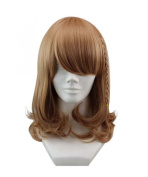 Etruke Short Brown Braids Hair Bun Amnesia Cosplay Wigs