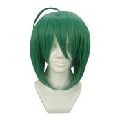 Etruke Anime Short Straight Green Macross F Ranka Lee Cosplay Wigs