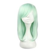 Etruke Long Straight Light Green Lolita Cosplay Wigs