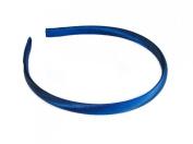 Womens Girls 1cm Simple Satin Skinny Hairband / Headband - Royal Blue