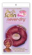 Stay On Satin Never-Dry Extra Large Satin Edge Bonnet (Stay On All Night) Style 96382 Asst