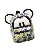 Modelshow Children's Painted Cartoon Colourful Canvas Big Ears Schoolbag Backpack Daypacks