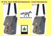 Shoulder Bag/Belt Combo Pure Hemp Hemp HF012 in 4 Colours