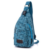 Modelshow Couple's Lover's Outdoor Casual Canvas Leisuring Sports Chest Bag Packs Backpack