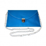 Energetix 4you Clutch PU Leather Handbag Blue (Approx. 29 x 19 x 1 cm) with Pegasus Logo