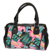 New Rebels Black Colourful Flowers Handbag Bag Handbag Bag