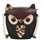 F.Dorla Cute Owl Print Satchel Messenger Shoulder Bag Handbag Cross Body Purse