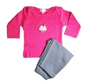 Loralin Design GFC6 Cupcake Outfit - Fuchsia 6-12 Months