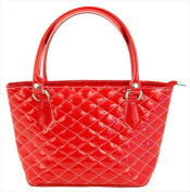 Catherine Lillywhite IT1001RD Red Patent And Quilted Bucket Bag