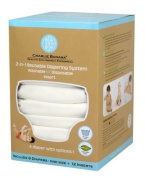 Winc Design Limited 889423 6 Nappies 12 Inserts Set All White One Size