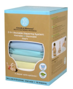 Winc Design Limited 889430 6 Nappies 12 Inserts Set Unisex Pastel Small