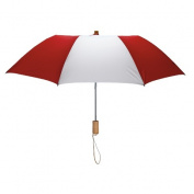 Peerless 2363-Red-White Executive Folding Umbrella Red And White