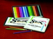 Sax 3.8 mm. Tip Highly Pigmented Non-Toxic California Cedar Wood Artists Coloured Pencil Pack 36
