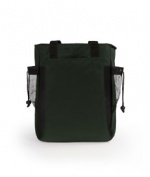 UltraClub 7291 Backpack Tote - Forest & Black
