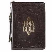 Christian Art Gifts 364363 Bible Cover-Classic & Holy Bible - Medium - Brown