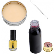 Ayliss® Special Effect Fake Wound Scar Makeup Set,Fake Blood,Wax,Glue and Spatula