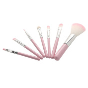 MIOIM 7 Pcs Makeup Brush Eye & Face Set Brushes Cosmetic Brush Tool Pink