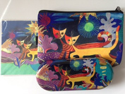 Rosina Wachtmeister Wonderland Set Glasses Case, Cleaning Cloth, Cosmetics Bag