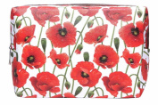 Poppy Print Large Rectangular Make Up Bag / Cosmetics Purse / Wash Bag
