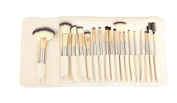 Contever® Premium Cosmetic Brush Set -18Pcs Professional Goat Hair Makeup Brush Tool Kit With White PU Pouch For Eyeliner Lip Powder Blush Face Brush Use
