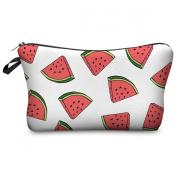Mens Ladies Toiletry Bag Vanity case, make up, purse, pencil case, phone handbag, jewellery pouch NEW! Watermelon White