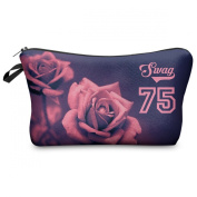 Mens Ladies Toiletry Bag Vanity case, make up, purse, pencil case, phone handbag, jewellery pouch NEW! Swag Roses