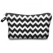 Mens Ladies Toiletry Bag Vanity case, make up, purse, pencil case, phone handbag, jewellery pouch NEW! Zig Zag
