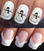 CHRISTMAS NAIL ART SET STICKERS DECALS WATER TRANSFERS. PLUS x48 FRENCH MANICURE TIP GUIDES! (786 & 172) XMAS SEASONAL HOLIDAYS FROSTY THE FROZEN SNOWMAN DECORATIONS WRAPS! CAN BE USED WITH NATURAL GEL ACRYLIC STICK ON NAILS! USE WITH GLITTER DUST CAVI ..