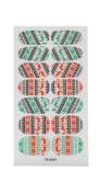 JTC 3D Design Christmas Nail Art Transfer Stickers Decal Decoration