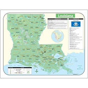 Universal Map 28387 Louisiana State Shaded Relief Map