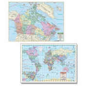 Universal Map 27149 Canada - World Rolled Map Combo - Paper