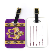 Carolines Treasures 8205BT 10cm x 7cm . Pair of Tiger Football Fleur De Lis Luggage Tag