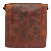 Canyon Outback Leather CY146 Ringtail Canyon Leather and Canvas Messenger Bag Brown