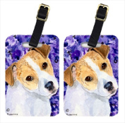 Carolines Treasures SS8740BT Jack Russell Terrier Luggage Tag - Pair 2 10cm x 7cm .