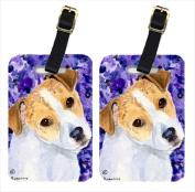 Carolines Treasures SS8740BT Jack Russell Terrier Luggage Tag - Pair 2 10cm x 7cm .